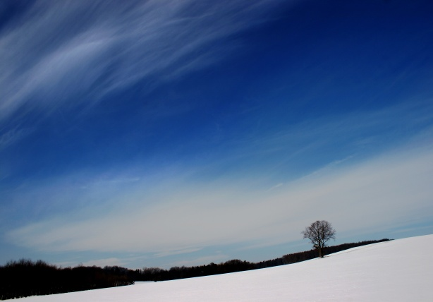 open sky with snow